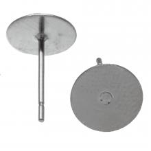 Stainless Steel Oorstekers tray 8 mm x 0.6 mm (Antiek Zilver) 20 Stuks