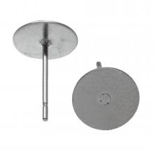 Stainless Steel Oorstekers tray 6 mm x 0.6 mm (Antiek Zilver) 20 Stuks