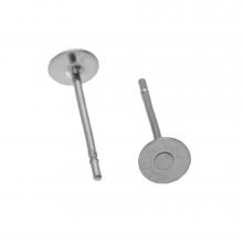Stainless Steel Oorstekers tray 4 mm x 0.6 mm (Antiek Zilver) 20 Stuks