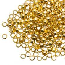 Voordeelpakket Knijpkralen (Binnenmaat 1.2 mm) Goud (730 Stuks)