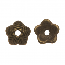 Beadcap (6 x 1.5 mm) 25 Stuks (Brons)