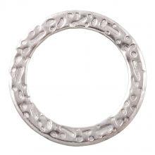 Gesloten Ringen (buitenmaat 15 mm binnenmaat 11 mm) Antiek Zilver (10 stuks)