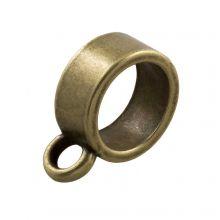 Tussenstuk 1 Oog (Binnenmaat 7 mm) Brons (10 Stuks)