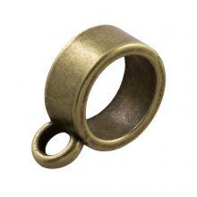Tussenstuk 1 Oog (Binnenmaat 8 mm) Brons (10 Stuks)