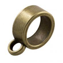 Tussenstuk 1 Oog (Binnenmaat 9 mm) Brons (10 Stuks)