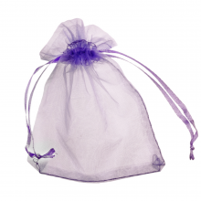 Organza Zakjes (7 x 9 cm) Purple (25 Stuks)