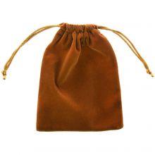 Velours Sieraden Zakjes (15 x 12 cm) Rust Brown (5 Stuks)
