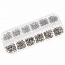 Voordeelpakket - Stainless Steel Buigringen Box (4 tot 6 mm x 0.7 & 0.8 mm) Zilver