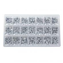 Kralendoos - Zilver Letterkralen Medeklinkers - 7 x 3.5 mm (50 kralen per letter)