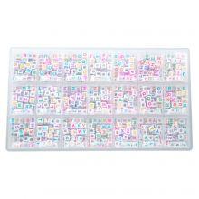 Kralendoos - Mix Color Letterkralen Medeklinkers - 6 x 6 mm (44 kralen per letter)