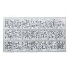 Kralendoos - White Letterkralen Medeklinkers - 6 x 6 mm (44 kralen per letter)