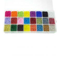 Kralendoos XL - Rocailles (2 mm / 24 x 23 gram) 'Mix Color'