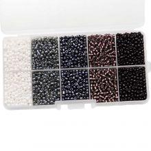 Kralendoos - Rocailles glaskralen (3 mm) 'Mix Color'
