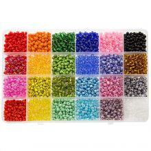 Kralendoos XL - Rocailles (4 mm / 24 x 12 gram) 'Mix Color'