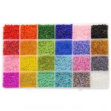 Kralendoos XL - Rocailles (2 mm / 24 x 12 gram) 'Mix Color'