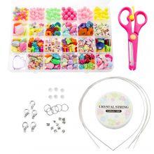 Kralendoos Kids - Acryl Kralen En Tools 'Mix Color'