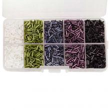 Kralendoos - Rocailles glaskralen (6 x 1.8 mm) 'Mix Color'