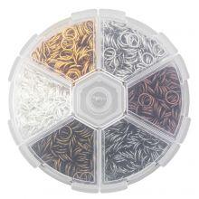 Voordeelpakket - Buigringen Box (6 x 1 mm) Mix Color (1300 Stuks)
