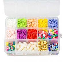 Kralendoos - Acryl en Polymeer Kralen (Diverse maten 6 - 23 mm) Mix Color (2300 stuks)