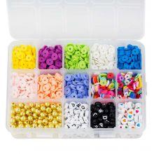 Kralendoos - Acryl en Polymeer Kralen (Diverse maten 6 - 8 mm) Mix Color (2550 stuks)