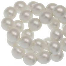 DQ Glasparels (4 mm) White Matt (110 Stuks)