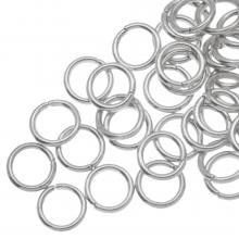 Buigringen (8 mm) Antiek Zilver (100 Stuks) dikte 1.2 mm
