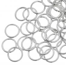 Buigringen (10 mm) Antiek Zilver (100 Stuks) dikte 1.2 mm