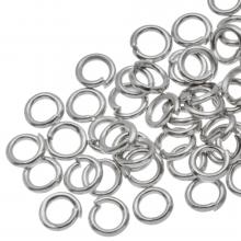 Buigringen (4 mm) Antiek Zilver (100 Stuks) dikte 0,8 mm