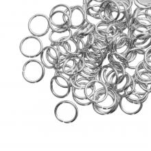 Buigringen (8 mm) Antiek Zilver (100 Stuks) dikte 1 mm