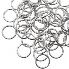Buigringen (10 mm) Antiek Zilver (100 Stuks) dikte 1 mm