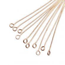 Kettelstiften (50 mm) Goud (100 Stuks) Dikte 0.6 mm
