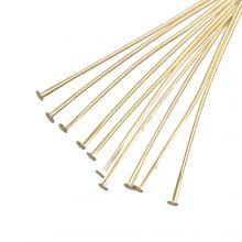 Nietstiften (35 mm) Goud (100 Stuks) Dikte 0.6 mm