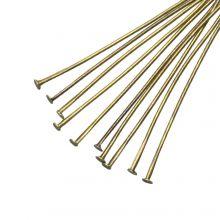 Nietstiften (50 mm) Brons (100 Stuks) Dikte 0.6 mm