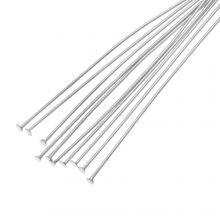 Stainless Steel Nietstiften (50 mm) Antiek Zilver (100 Stuks) Dikte 0.7 mm