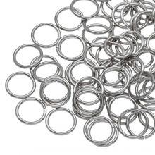 Stainless Steel Buigringen (10 mm) Antiek Zilver (100 Stuks) Dikte 1 mm
