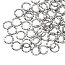 Stainless Steel Buigringen (6 mm) Antiek Zilver (100 Stuks) Dikte 0.8 mm