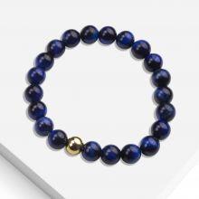 Armband Met Natuursteen Kralen (8 mm) Blue Tiger Eye (1 stuks)