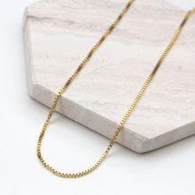 Stainless Steel Ketting Met Kleine Schakels (50 cm) Goud (1 stuks)