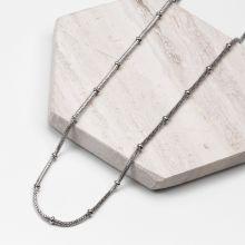 Stainless Steel Mesh Ketting (45 cm) Antiek zilver (1 stuks)