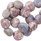 Keramiek kralen (16 x 8 mm) Lavender (13 Stuks)