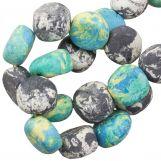 Keramiek kralen (16 x 8 mm) Blue Stone (13 Stuks)