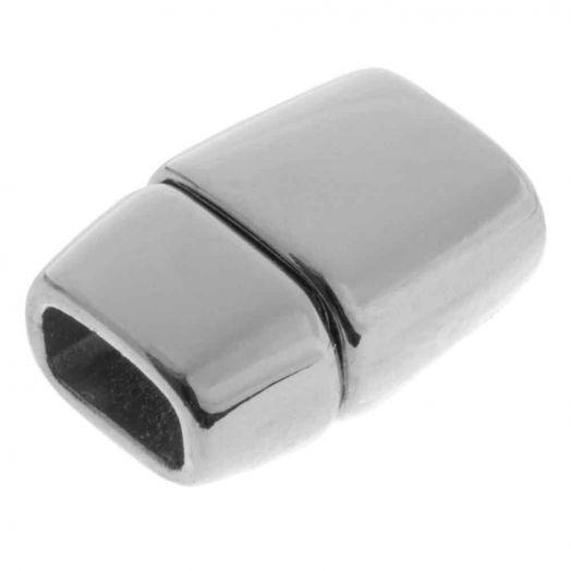 Magneetslot (binnenmaat 6 x 3 mm) Antiek Zilver (1 Stuk)