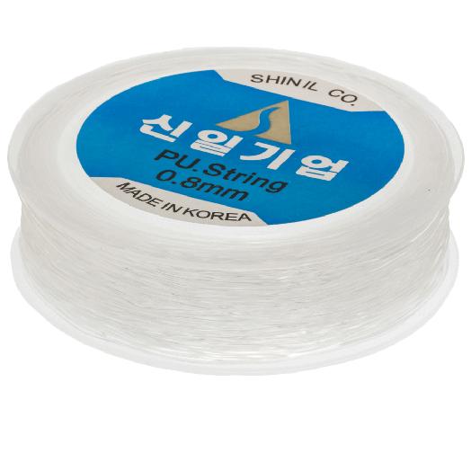 Top Kwaliteit Elastiek (0.8 mm) Transparant (35 Meter)