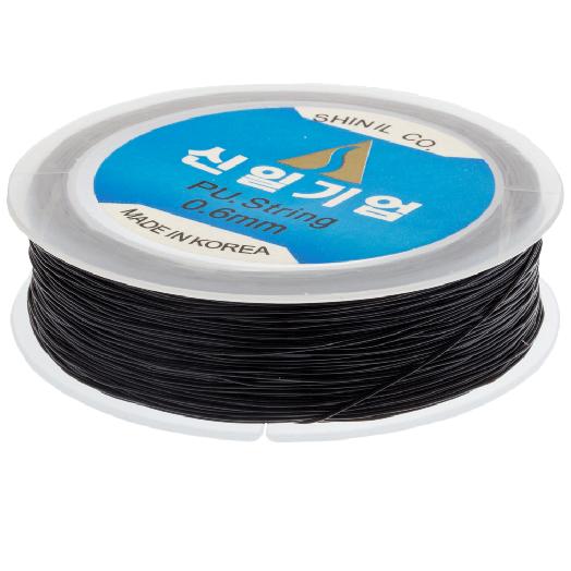 Top Kwaliteit Elastiek (0,6 mm) Black (80 Meter)