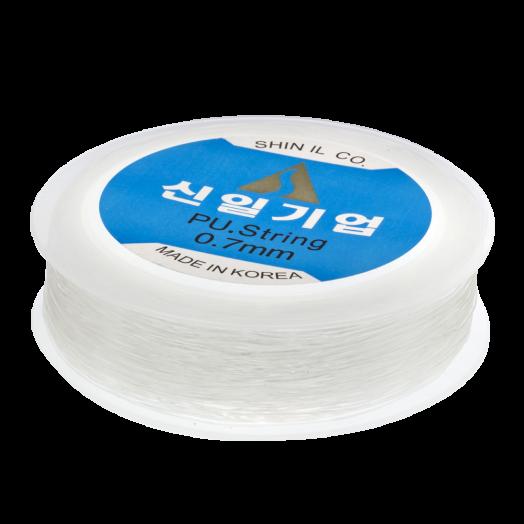 Top Kwaliteit Elastiek (0.7 mm) Transparant (50 Meter)