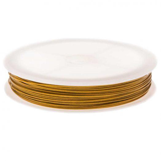 Metaaldraad (0.7 mm) Goud (Rol a 25 meter)