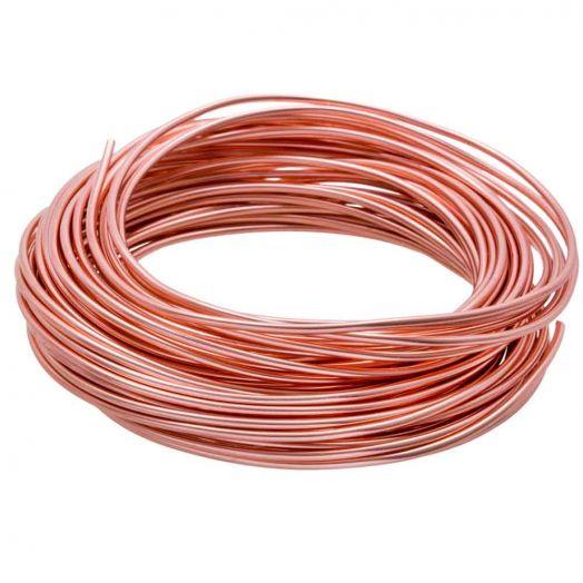 Aluminium Wire (2 mm) Bright Salmon (10 Meter)