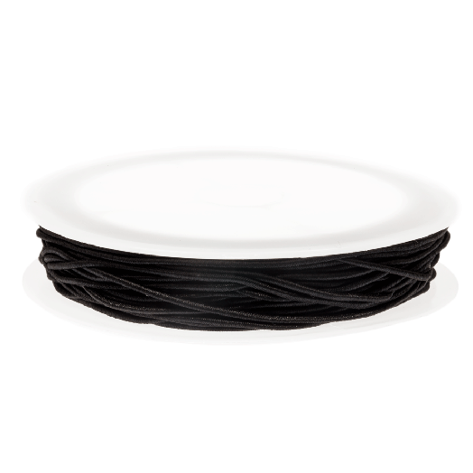 Elastiek (0.6 mm) Black (19 Meter)