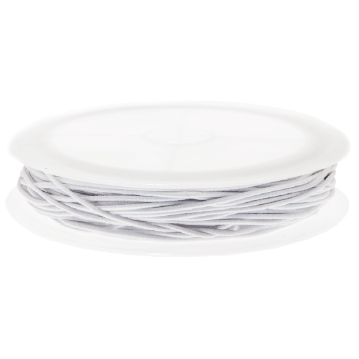 Elastiek (1 mm) White (9,5 Meter)
