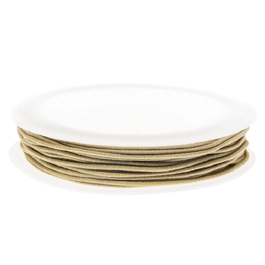 Elastiek (0.6 mm) Light Sand (19 Meter)